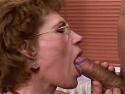 Mature w little tits sucks n fucks