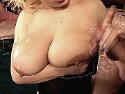 Milf fucks w guys and gets cumshot