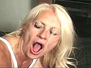 Kinky blond granny fucking and sucking like crazy