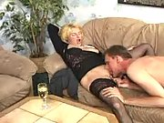 Mature swingers sexing after dinner