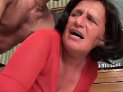 Granny crazy fucked in mouth and tight asshole