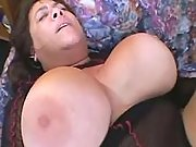 Giant busty aged lady fucked by guy