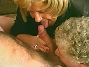 Two lusty old bags share young cock