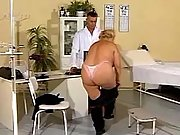 Granny seduces young amateur doctor