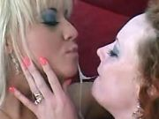 Blonde milf gets cum after anal sex