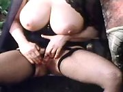 Vamp lady with enormous tits action