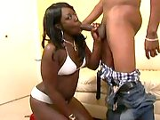 Playful ebony doll is plugged hard