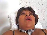 Chubby lady enjoys dildo