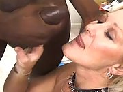 Splendid grandma prefers black cock