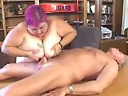 Huge fat lady sucks and rides cock
