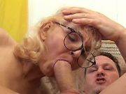 Depraved granny seduces amateur guy w strong cock