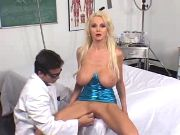 Sex thirsty busty blonde at medical inspection