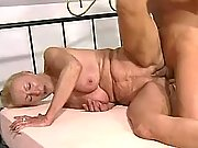 Old granny goes crazy from big cock