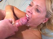 Naughty blond mom gets poked and cum blasted
