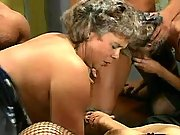 Old retired whores in wild gangbang