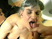Old whore gets facial after assfuck