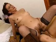Lady in years fucked by horny huy in every poses