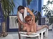 Fat mature lures masseur