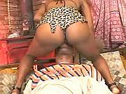 Naughty African girl spreading legs for beefy cock