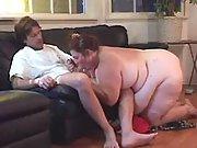 Busty elephant size lady tempts man