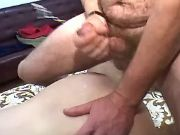 Granny in stockings gets fuck and cumload on ass