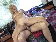 Blond mature slutty getting pumped and facialized
