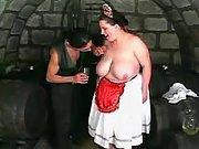 Fatty fucked in cellar