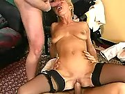 Mature whores in stockings gangbang