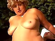 Fat mature lady crazy fucks outdoor