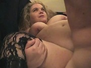 Fat milf w big tits sucks and fucks