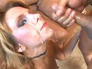 Milf fucks in all poses and gets cumload on face