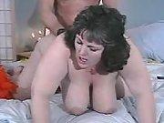 Plump brunette w large tits screwed