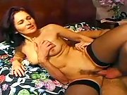 Shy mama goes horny with two lovers