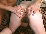 Lewd granny loves playfull fingers in ass and cunt