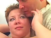 Chubby woman w big tits seduces man