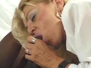 Busty mature lady fucked by blackie