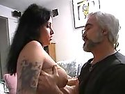 Oldman pounds mature breasty whore