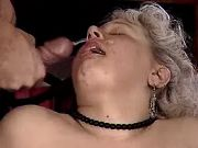 Granny and mature get hot facial in group sex