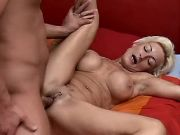 Blonde granny with big tits gets fuck and fisting