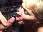Horny old lady gets crazy fuck and cum on face
