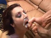 Naughty mature gets hard fuck and lavish facial