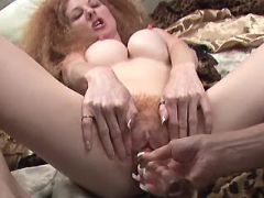 Brunette lesbian dildos hairy pussy