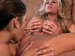 Oversexed big tit lesbians with pink twats