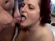 Old whore with huge ass crazy fucked and gets cum