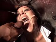 Lusty granny gets hot numerous cumload in gangbang