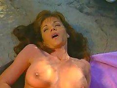 Adorable busty lesbian makes sweaty sex