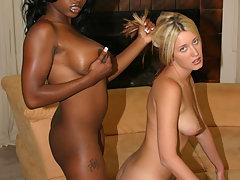 Interracial busty lesbian sex