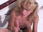 Hot mature sucks n fucks in kitchen