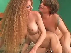 Lusty lesbians have fun in bedroom