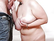 Sexy plumper does her best to please the meat